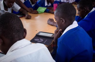 E-reading session, form one and form four, at Chamwino Secondary