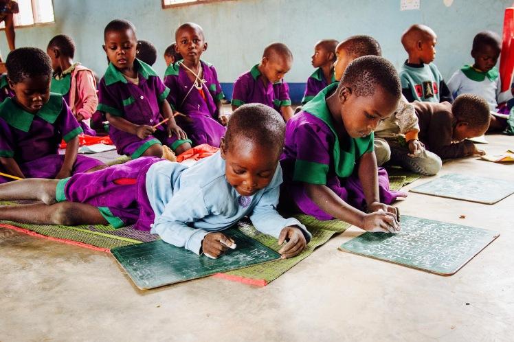 Kindergarten class at Chamwino village.